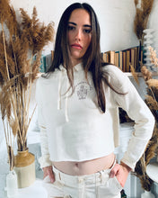 Load image into Gallery viewer, Create- Cream Cropped Super-soft Hoodie Sweatshirt