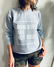 Load image into Gallery viewer, Mom Bods- Grey Crew Neck Crop Sweatshirt