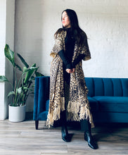 Load image into Gallery viewer, Light Tan Leopard Long Duster