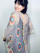 Load image into Gallery viewer, Mauve Multi Circles Sheer Kimono
