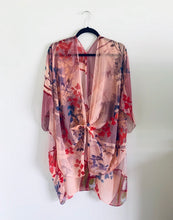 Load image into Gallery viewer, Pink Abstract Sheer Kimono