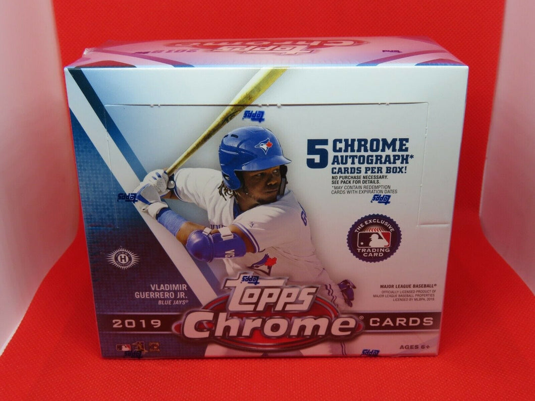 2019 Topps Chrome Baseball Jumbo Hobby Pack