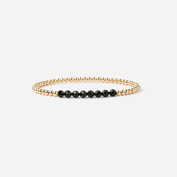 Spinel and Gold Fill Bracelet