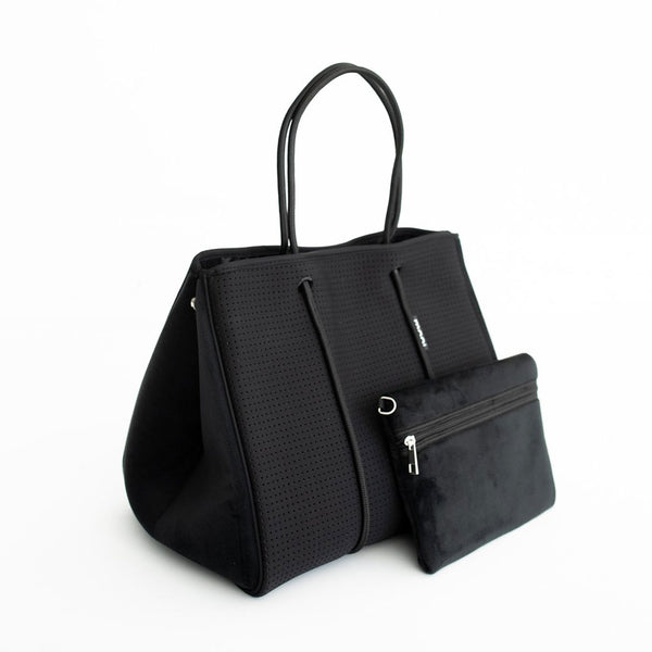 Black and Velvet Tote Bag