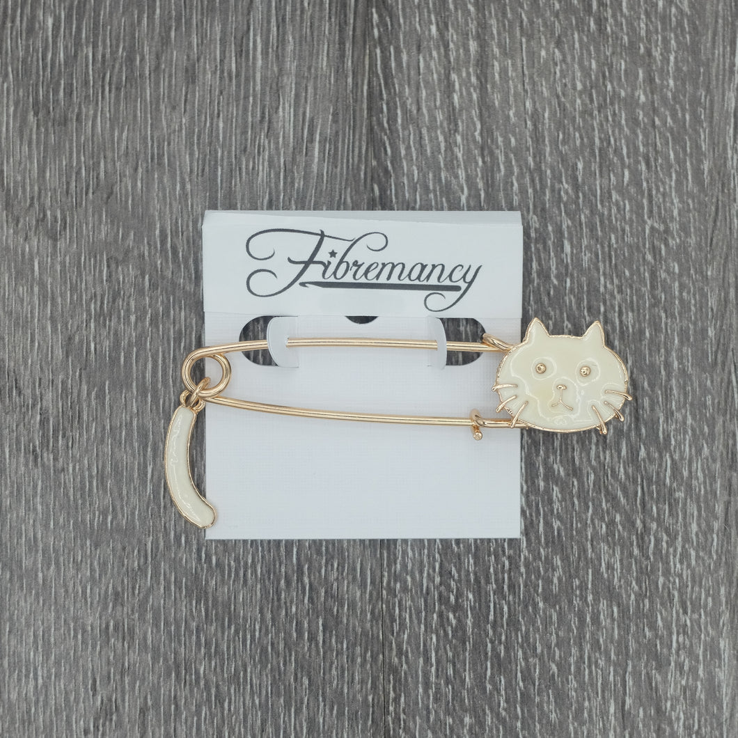Fibremancy Cat Shawl Pins