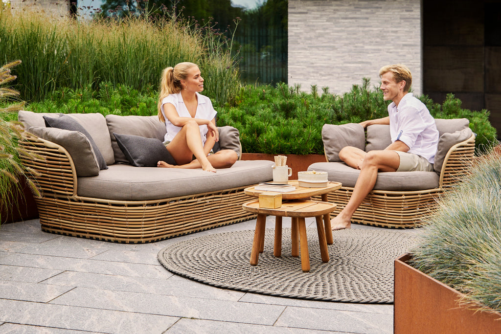 Make your outdoor space a part of nature with outdoor furniture from the Basket series