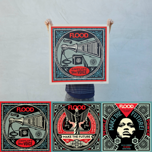 Shepard Fairey x FLOOD Signed & Numbered Screen Print Benefitting #SaveOurStages