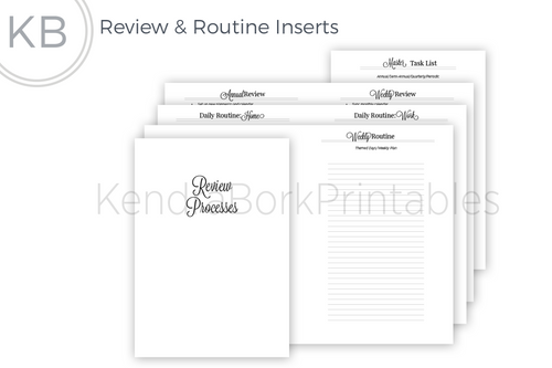 Review and Routine Insert quick view