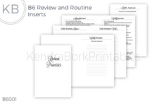 Load image into Gallery viewer, Review and Routine Insert - Printable