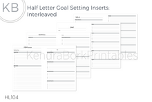 Load image into Gallery viewer, Goal Setting Insert (Interleaved) - Printable