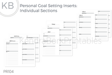 Load image into Gallery viewer, Goal Setting Inserts (Individual Sections) - Printable