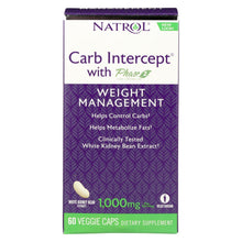 Natrol White Kidney Bean Carb Intercept - 60 Capsules