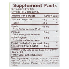 American Health - Papaya Enzyme With Chlorophyll Chewable - 250 Tablets