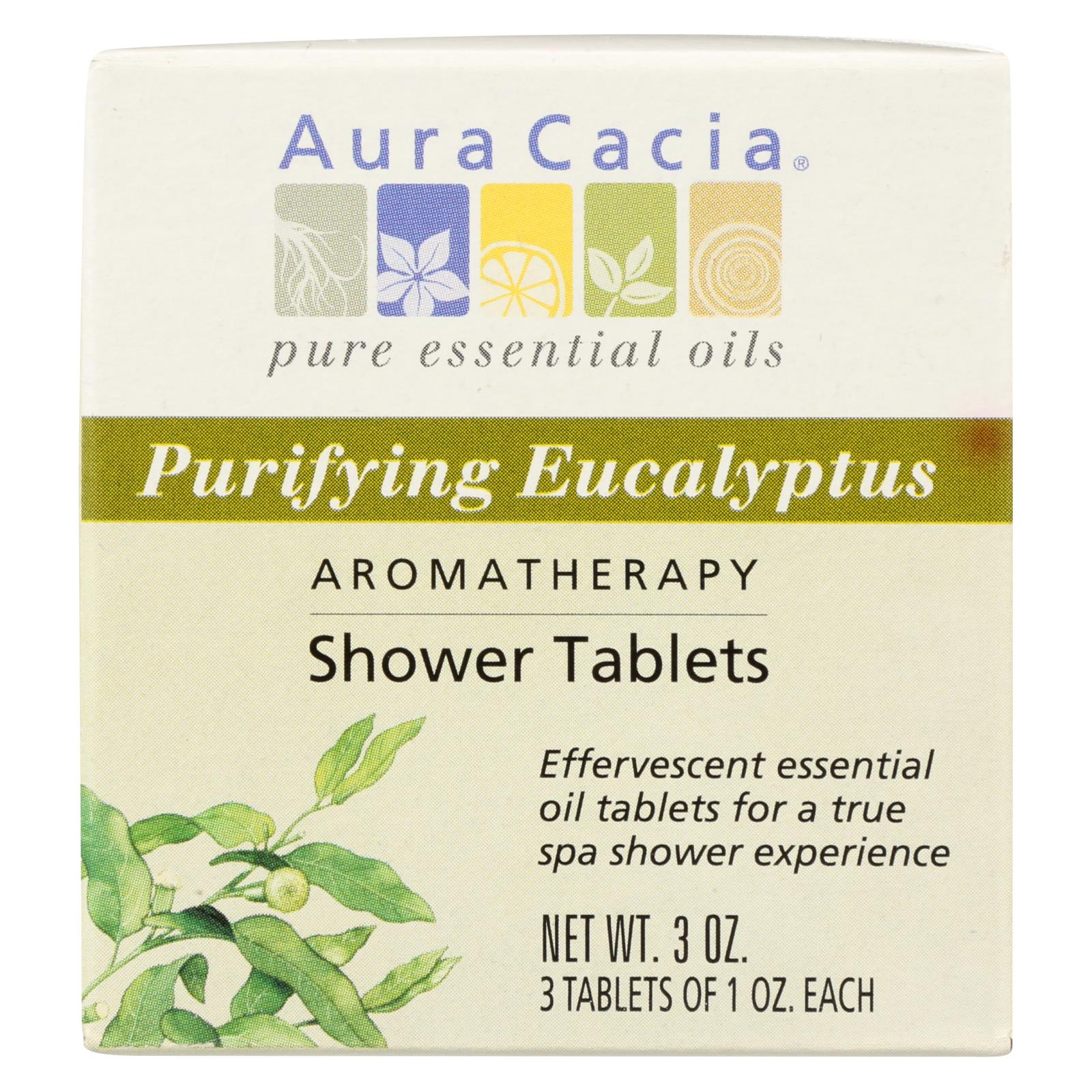 Aura Cacia - Purifying Aromatherapy Shower Tablets Eucalyptus - 3 Tablets