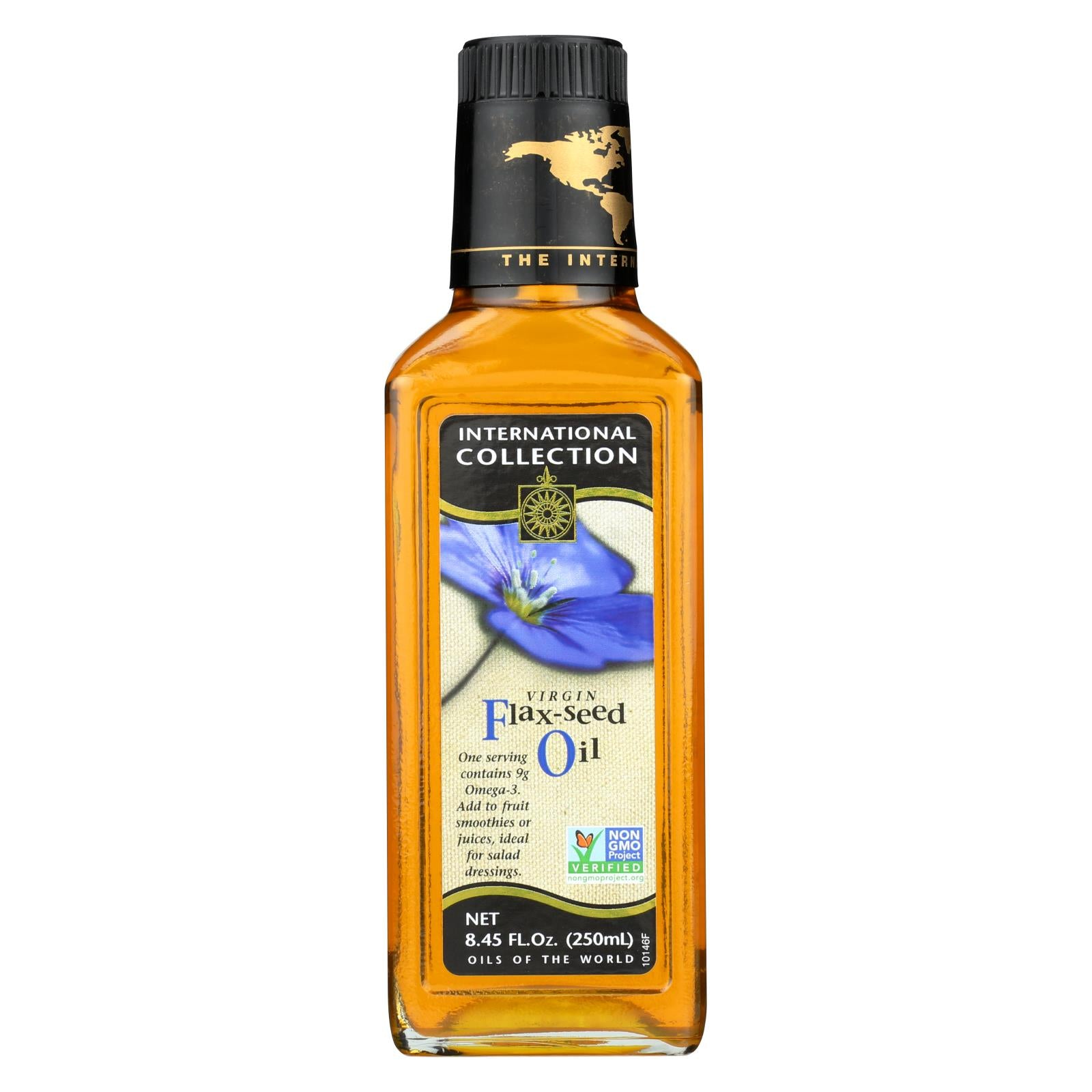 International Collection Flax-seed Oil - Virgin - Case Of 6 - 8.45 Fl Oz.