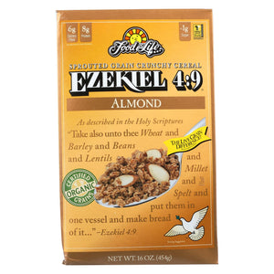 Food For Life Baking Co. Cereal - Organic - Ezekiel 4-9 - Sprouted Whole Grain - Almond - 16 Oz - Case Of 6