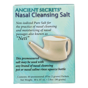 Ancient Secrets Nasal Cleansing Salt Packets - 40 Packets