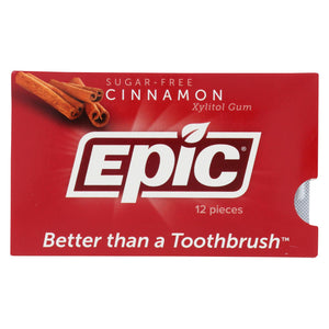 Epic Dental - Xylitol Gum - Cinnamon - Case Of 12 - 12 Pack