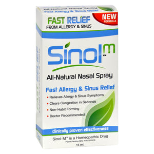 Sinol Sinol-m Homeopathic Allergy And Sinus Relief - 15 Ml