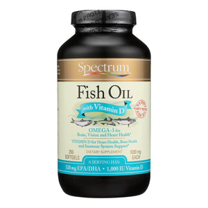 Spectrum Essentials Omega-3 Fish Oil With Vitamin D Dietary Supplement  - 1 Each - 250 Sgel