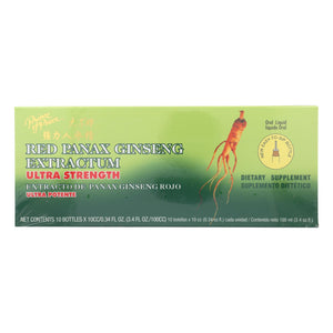 Prince Of Peace Red Panax Ginseng Extractum Ultra Strength - 10 Vials