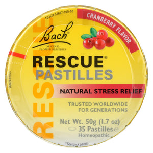 Bach Rescue Remedy Pastilles - Cranberry - 50 Grm - Case Of 12