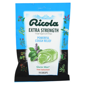 Ricola Cough Drop - Glacier Mint Extra Strength - 19 Ct - Case Of 12