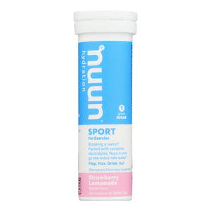 Nuun Hydration Nuun Active - Strawberry Lemonade - Case Of 8 - 10 Tablets
