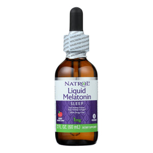 Natrol - Melatonin 1mg Liquid - 2 Fz