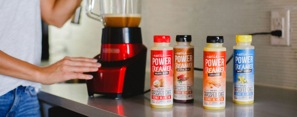 Blending powercreamer the keto coffee creamer