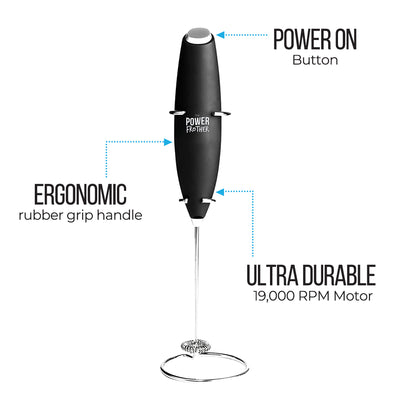 Durable Electric Milk Frother spec sheet
