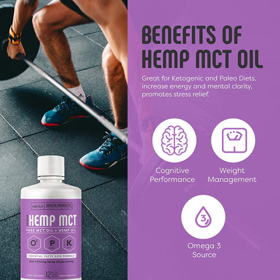 Hemp MCT Oil - MCT Oil + 20% Hemp Oil