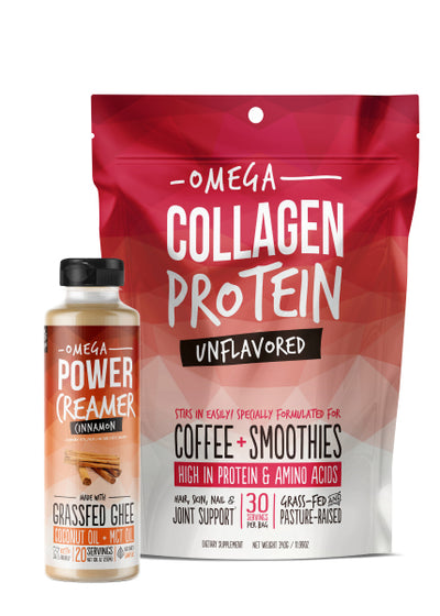 Choose Your Flavor Bundle Pack - Omega Collagen + PowerCreamer Bundle