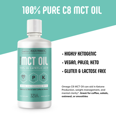 Omega C8 MCT Oil - highly ketogenic medium chain triglycerides FAQ's
