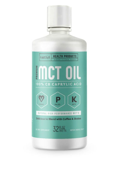 Omega C8 MCT Oil - 100% C8 Caprylic Acid MCT's - Highly Ketogenic Medium Chain Triglycerides by Omega Health Products