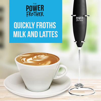 Electric Milk Frother Quickly Froths Milk and Lattes