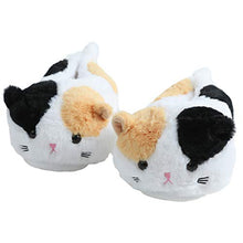 Load image into Gallery viewer, Women's Winter Cute Cat Plush Animal Slippers Warm Kitten Slippers for Adults
