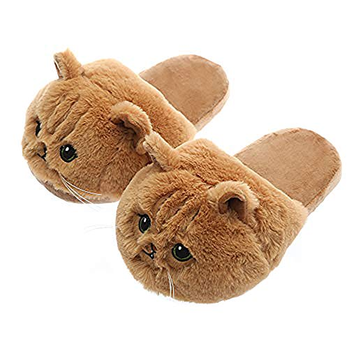 Millffy Cute Funny Animal Cat Slippers cozy comfy for Kids Adults