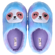 Load image into Gallery viewer, Plush Soft Fuzzy Animal Slippers Womens Slippers Rainbow Sloth Foot Pals for Kids, Cozy Children's Slippers