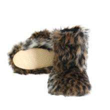 Load image into Gallery viewer, Winter Warm Women's Faux Fur Bootie Slippers Fuzzy Comfy Plush Boots Anti-Slip Indoor House Shoes