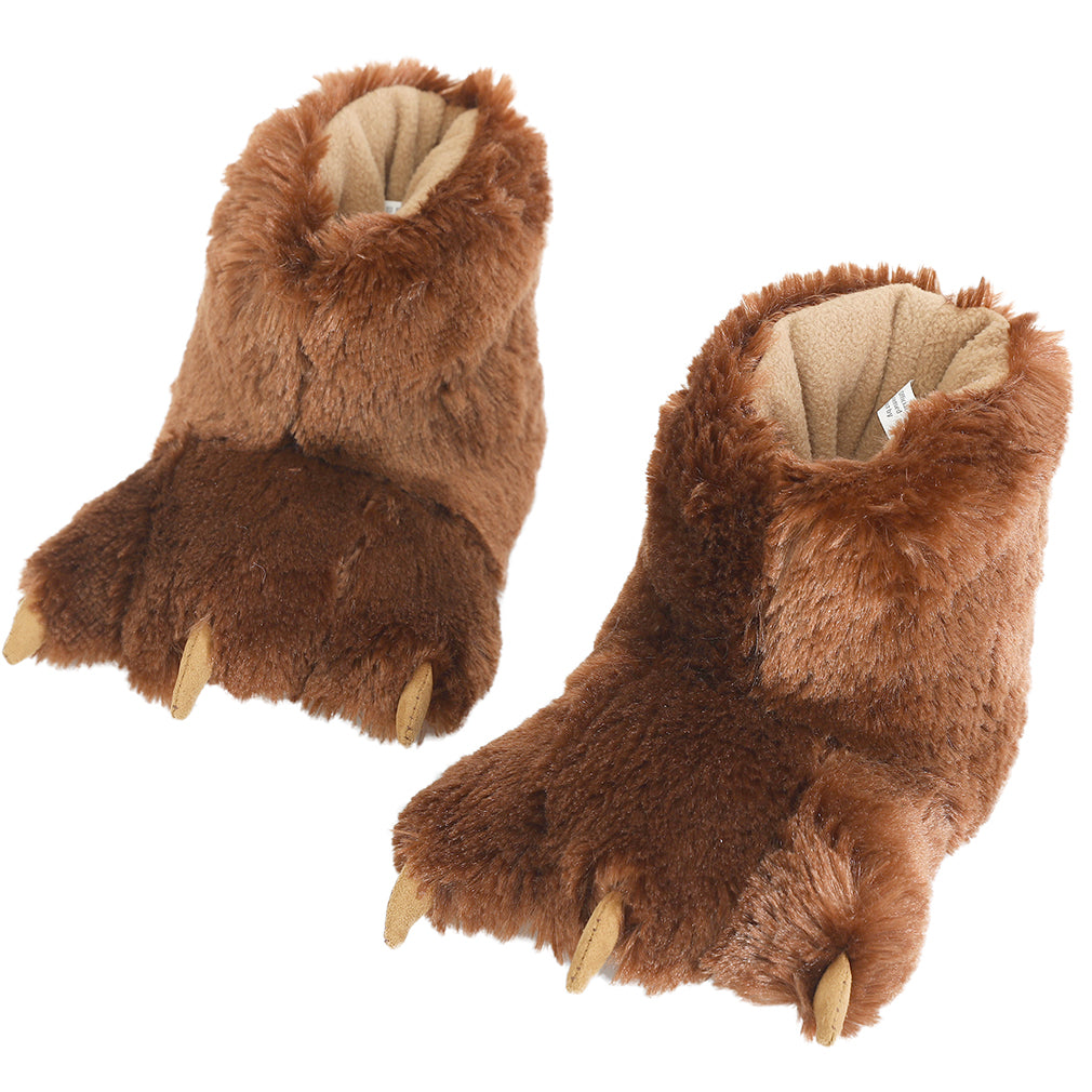 Millffy Funny Animal Paw Slippers Soft Cozy plush Slippers for Costume Footwear