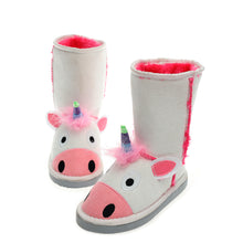 Load image into Gallery viewer, Millffy Animal Character boot Slippers for Kids Boys and Girls Slipper Boots Winter Warm Shoes