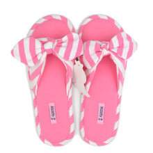 Load image into Gallery viewer, Millffy Summer Ladies House Shoes Home Slipper Cotton Indoor Bowknot Bedroom Slippers