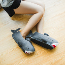 Load image into Gallery viewer, Millffy Women's Cozy Fleece Wicky Shark Memory Foam House Slippers Chomping Shark Plush Slippers