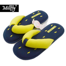 Load image into Gallery viewer, Millffy Memory Foam Cushioning Summer SPA Women's Knit Thong Slipper Japanese Cotton Slippers