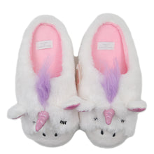 Load image into Gallery viewer, Unicorn Slippers | Indoor Outdoor Sneakers | Cozy Plush Shoes Woman Slippers | Cute Fluffy Girls Slippers