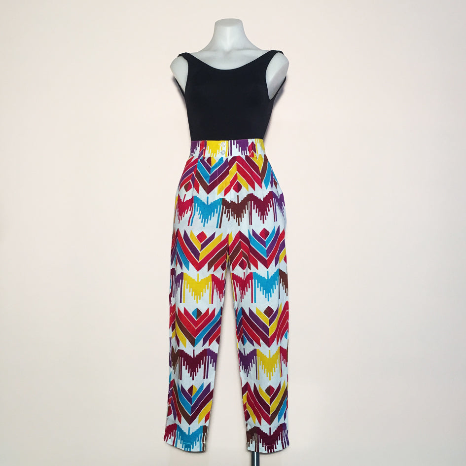 SIZE 6 or 8 - PARTY UP PANTS - Candy Batik - Cotton