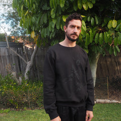 Uptown Sweater 2 - Black Cotton Fleece