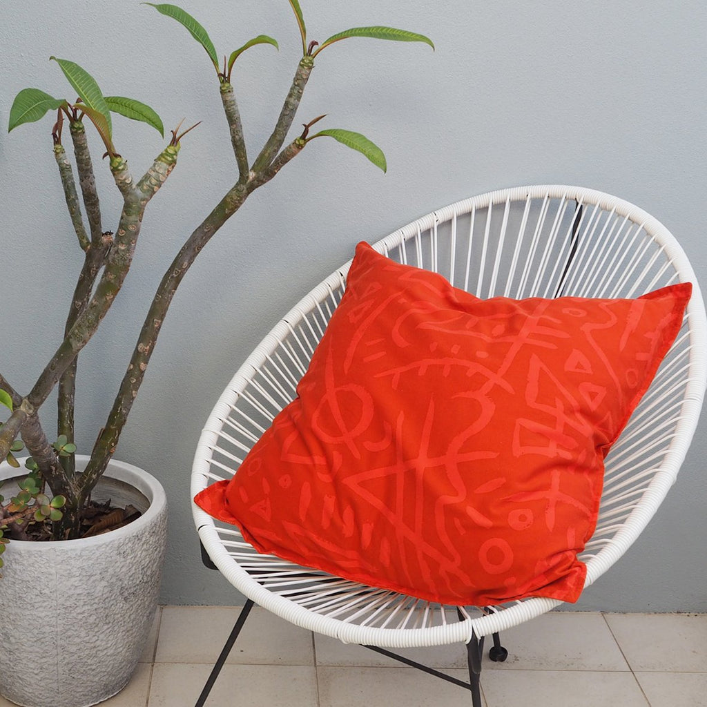 ! NEW ! EURO CUSHION COVER - Pindan Print - Cotton