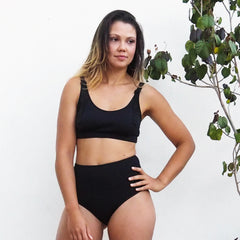 Crop - BLACK - Stretch Neopoly